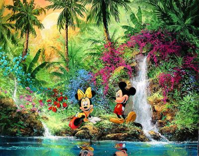 , Walt Disney, ... Thomas Kinkade Disney Paintings Frozen